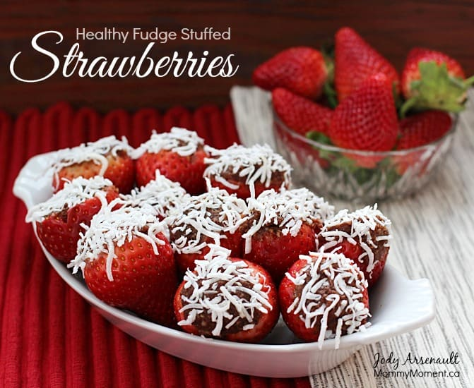 Fudge Stuffed Strawberries