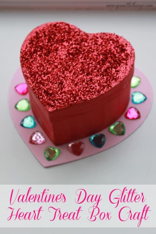 Glitter Heart Treat Box Craft