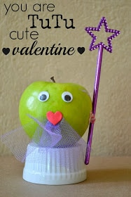 Fairy Princess Healthy Valentine Apples