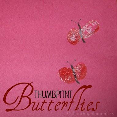 DIY Thumbprint Butterflies