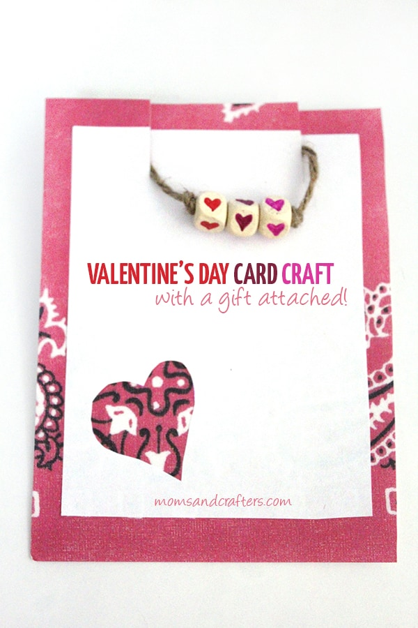 Valentine's Day Card Craft with a Surprise Gift