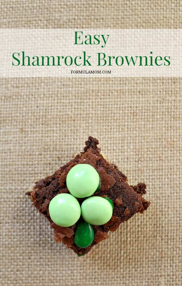 Easy-Shamrock-Brownies