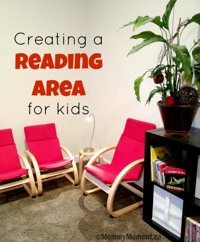 Reading area for kids