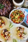 Shrimp Tacos with Pineapple Salsa and Creamy Coleslaw