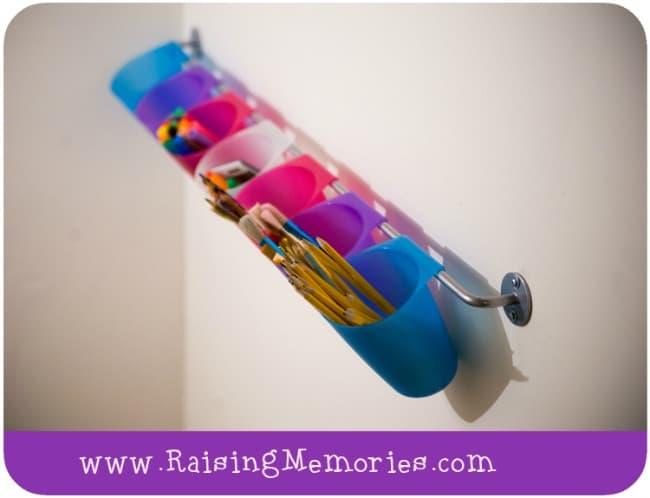Organizing Kids' Art Utensils