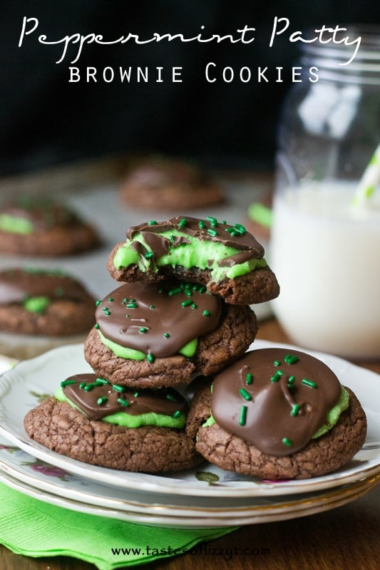 Peppermint-Patty-Brownie-Cookies-I-Tastes-of-Lizzy-T-I
