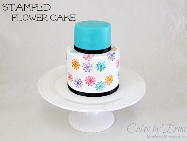 Stamped-Flower-Cake