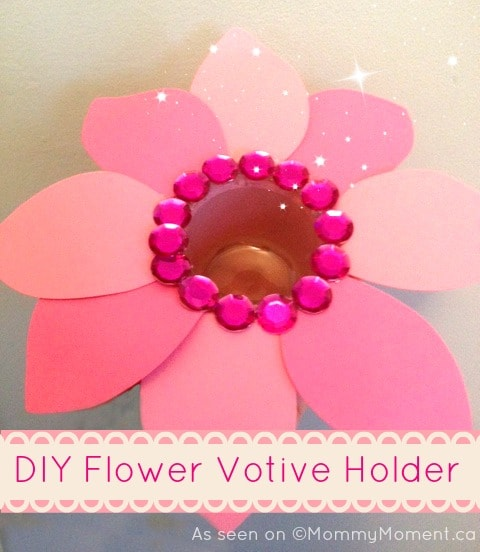diy flower votive