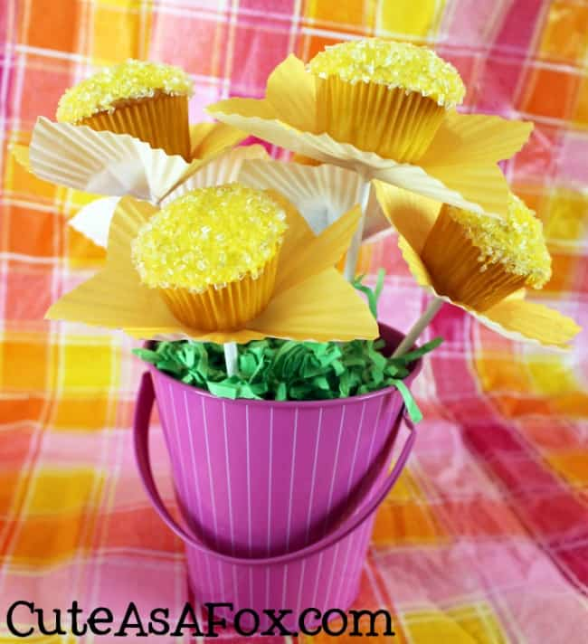 mini cupcake flowers