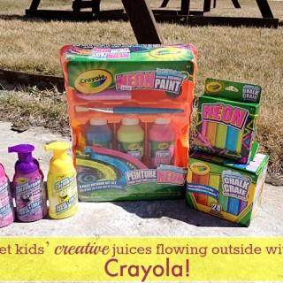 Get kids' creative juices flowing outside with Crayola!