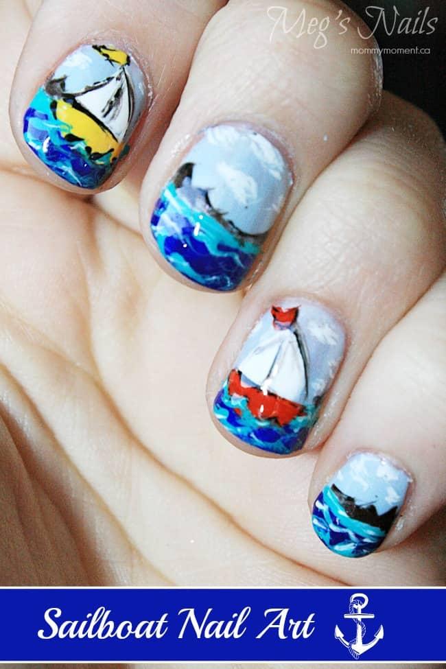 Sailboat Nail Art