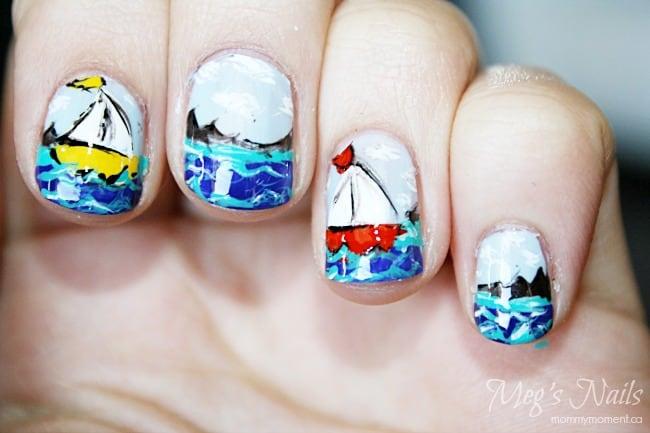 Sailboat Nail Design