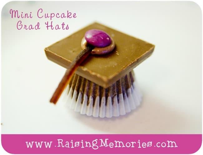 mini cupcake grad hats
