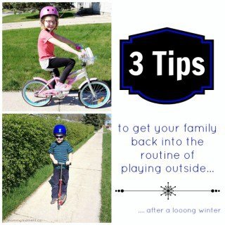 3 tips to get your family back into the routine of playing outside #Giveaway