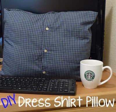 DIY-Dress-Shirt-Pillow
