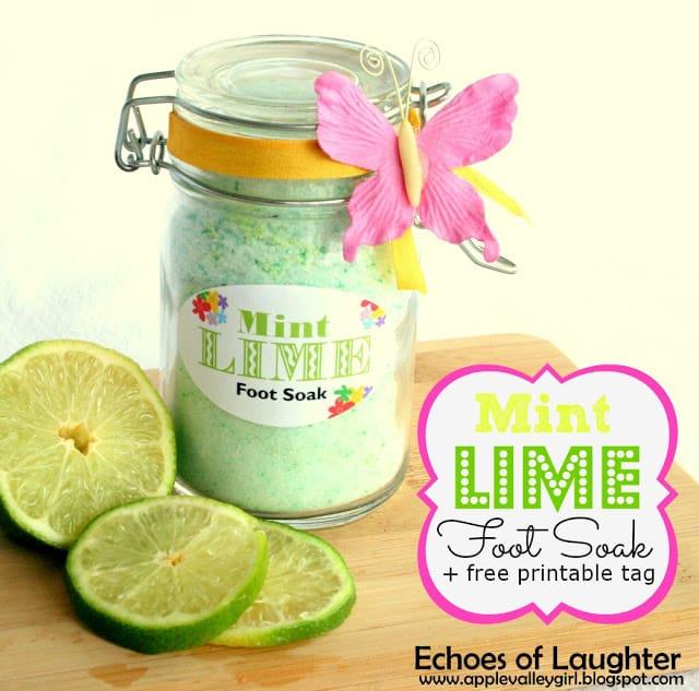 Mint Lime Foot Soak