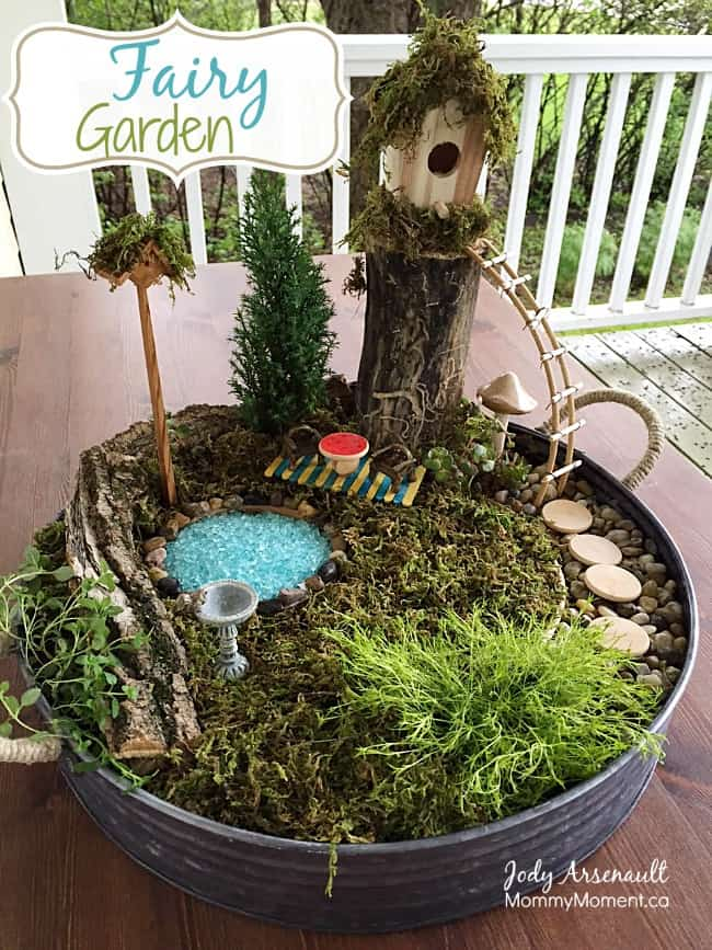 How to make a Fairy Garden affordably Mommy Moment