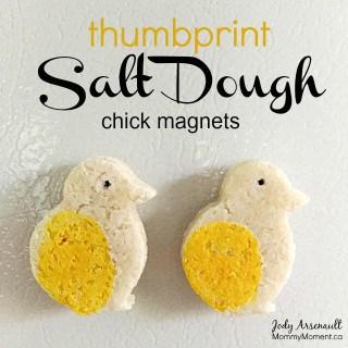 Thumbprint Salt Dough Magnets