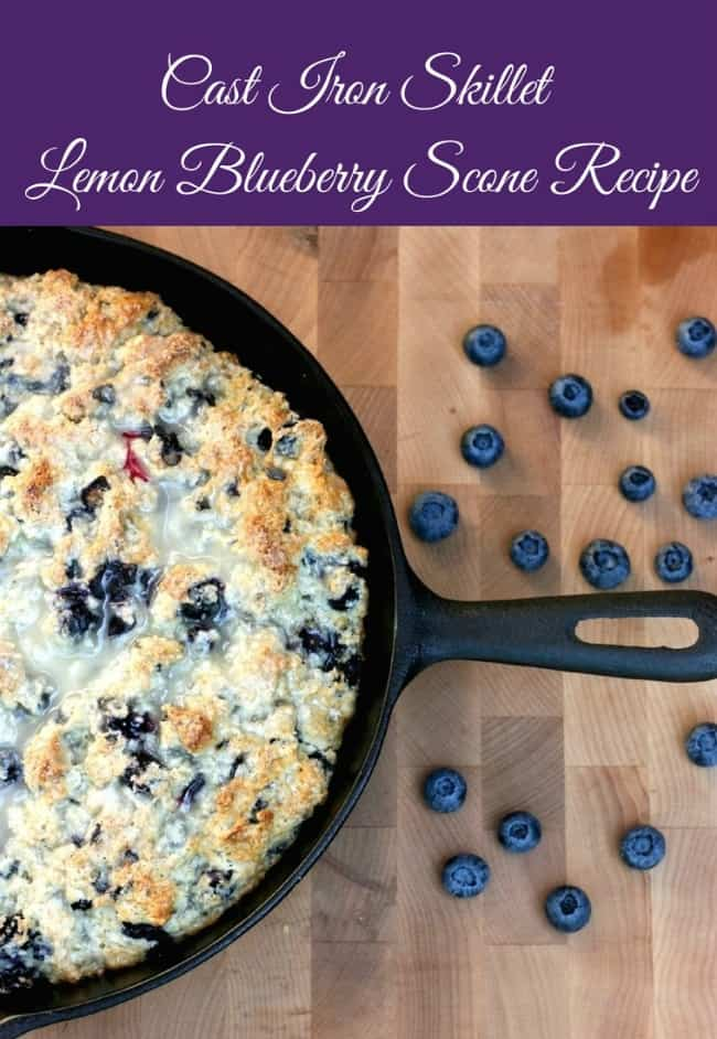 Cast-Iron-Skillet-Lemon-Blueberry-Scone-Recipe-from-Sew-Creative.-A-quick-easy-and-delicious-moist-scone-perfect-for-a-tea-part