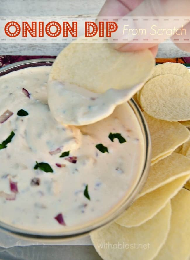 Onion Dip - from scratch-P