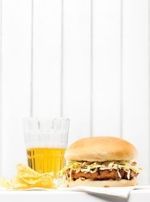 BBQ pork burgers