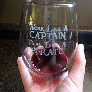 Work Like a Captain Stemless Wine Glasses #Giveaway {CAN}