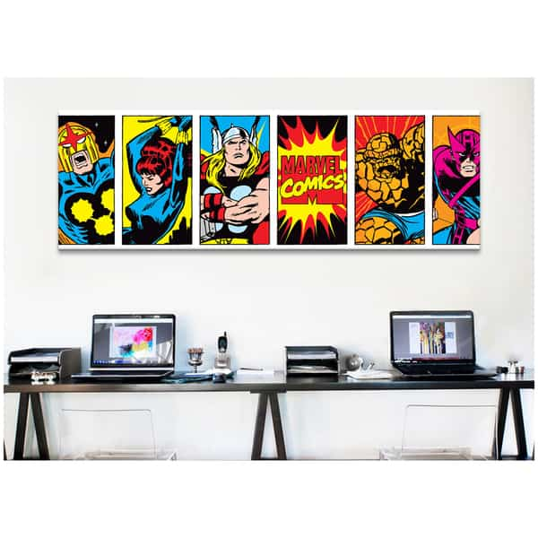 iCanvas-Marvel-Comic-Book-Character-Colored-Panoramic-Canvas-Print-Wall-Art-35267750-0795-44ce-9e13-3a8473a2470f_600