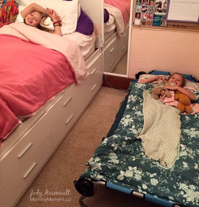 sleepover cot