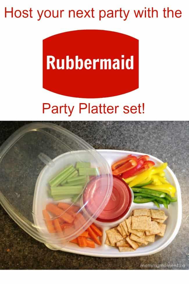 Rubbermaid party platter set