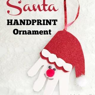 Easy Santa Handprint Ornament