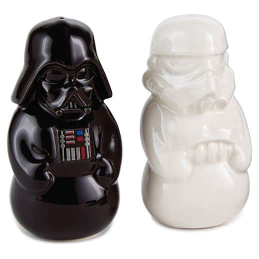May the force be with you with star wars gift ideas - Darth vader and stormtrooper salt and pepper shakers ...