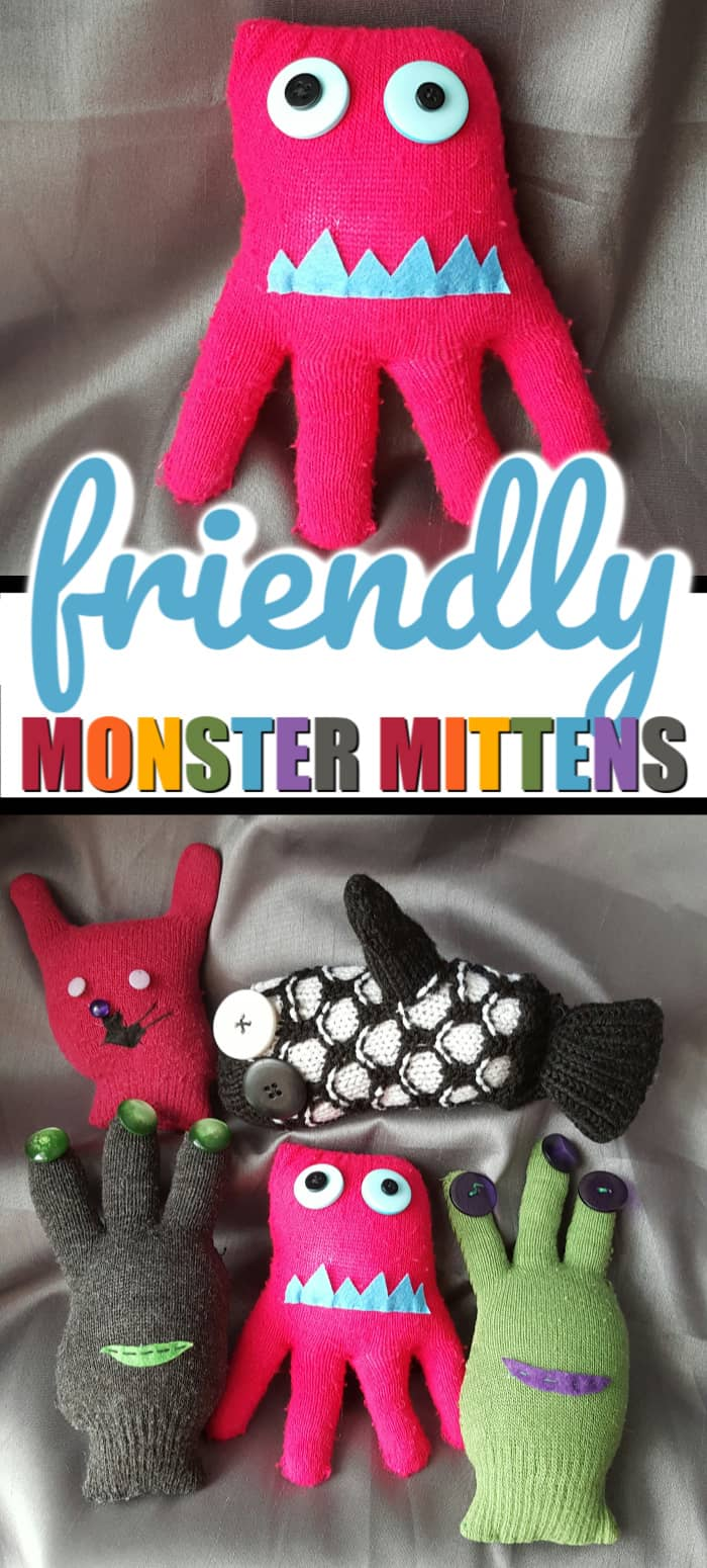 mitten monster craft diy
