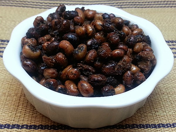Garlic Roasted Black Eyed Peas