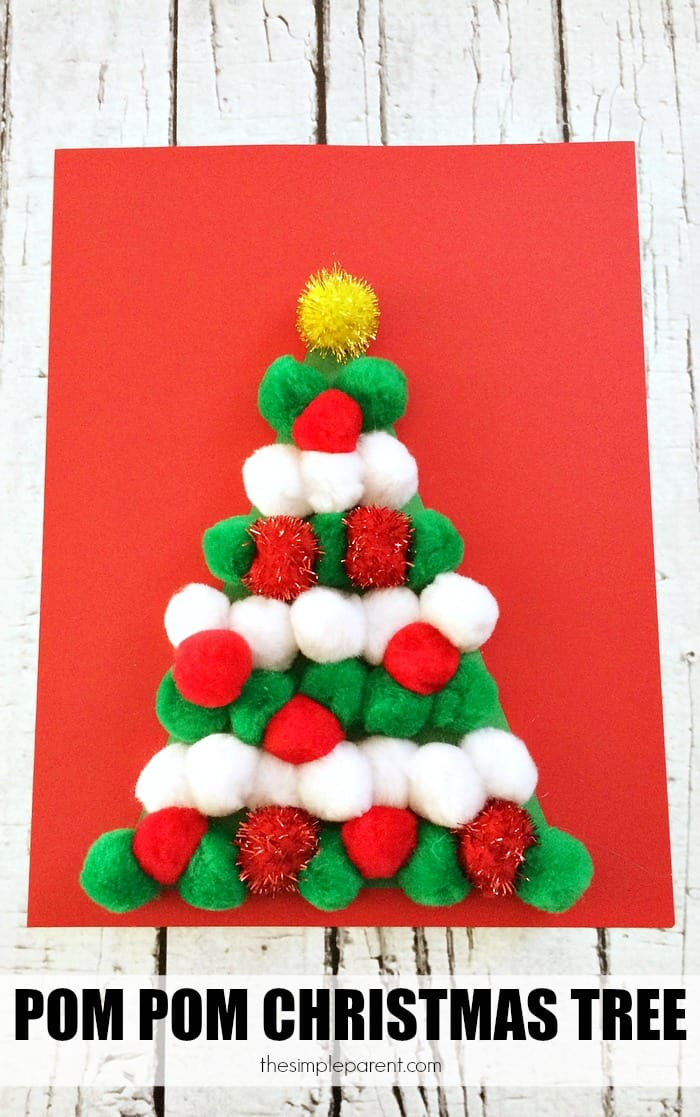 Pom-Pom-Christmas-Tree-Craft