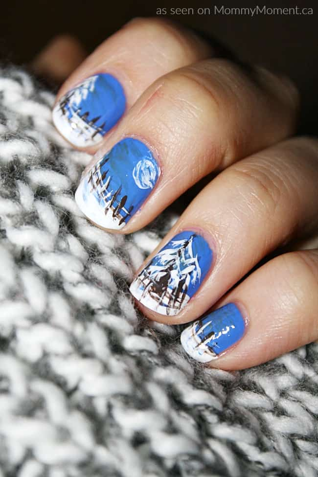 Winter Evening Nail Art