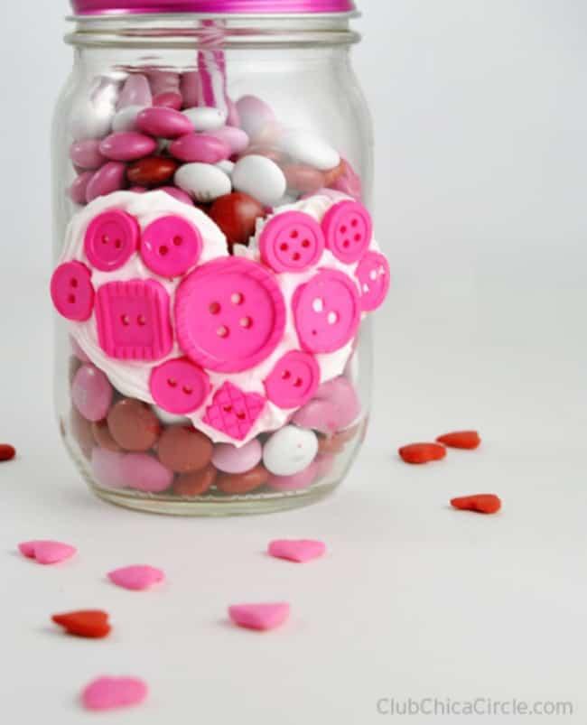 button heart mash jar