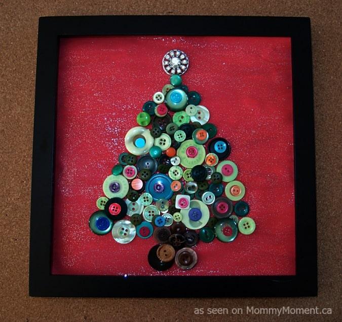 christmas tree button art