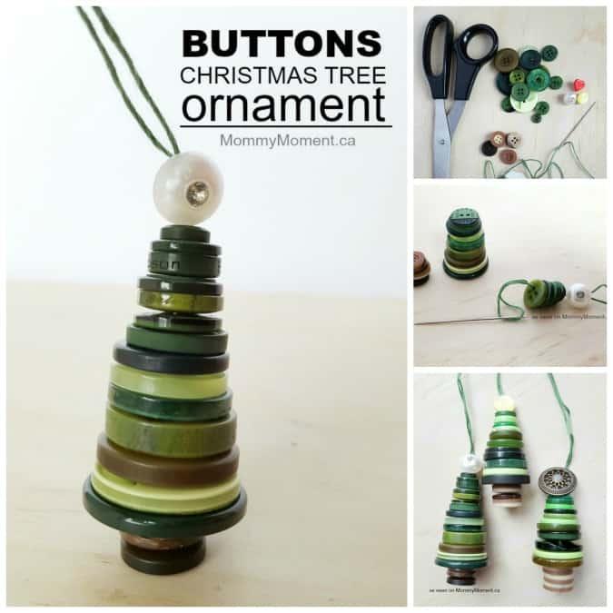 Button Christmas Trees: Button Christmas Tree Ornaments