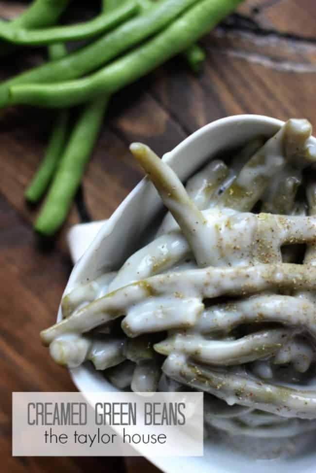 creamed green beans