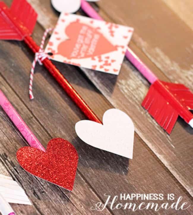heart pencil arrow