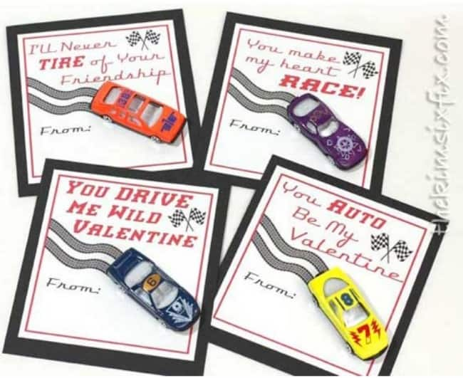matchbox car valentine