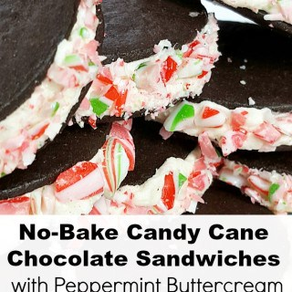 No-Bake Chocolate Sandwiches with Peppermint Buttercream