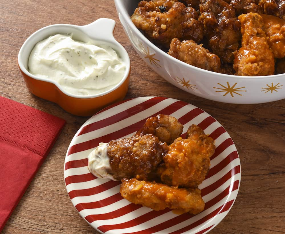 savory wings with dip