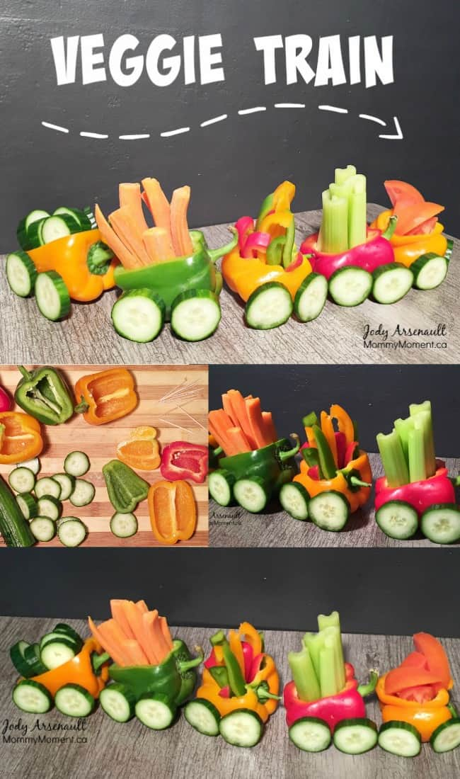 easy veggie train snack for kids mommy moment. Black Bedroom Furniture Sets. Home Design Ideas