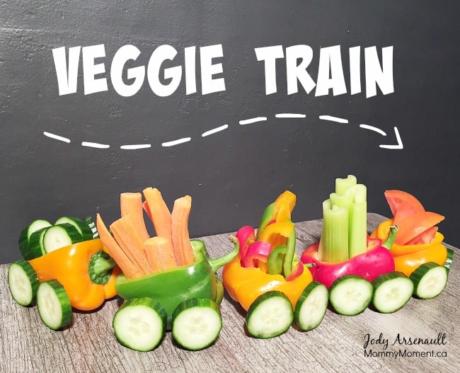 veggie train vegetable train snack for kids - fun and healthy