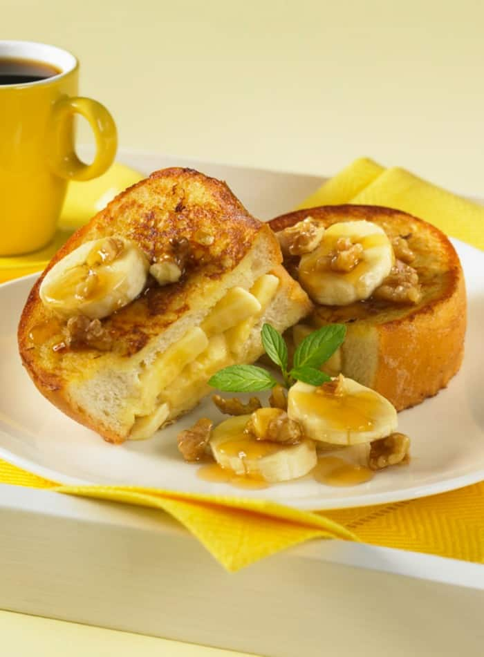 Banana Nut Stuffed French Toast Recipe