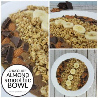 CHOCOLATE ALMOND SMOOTHIE BOWL RECIPE