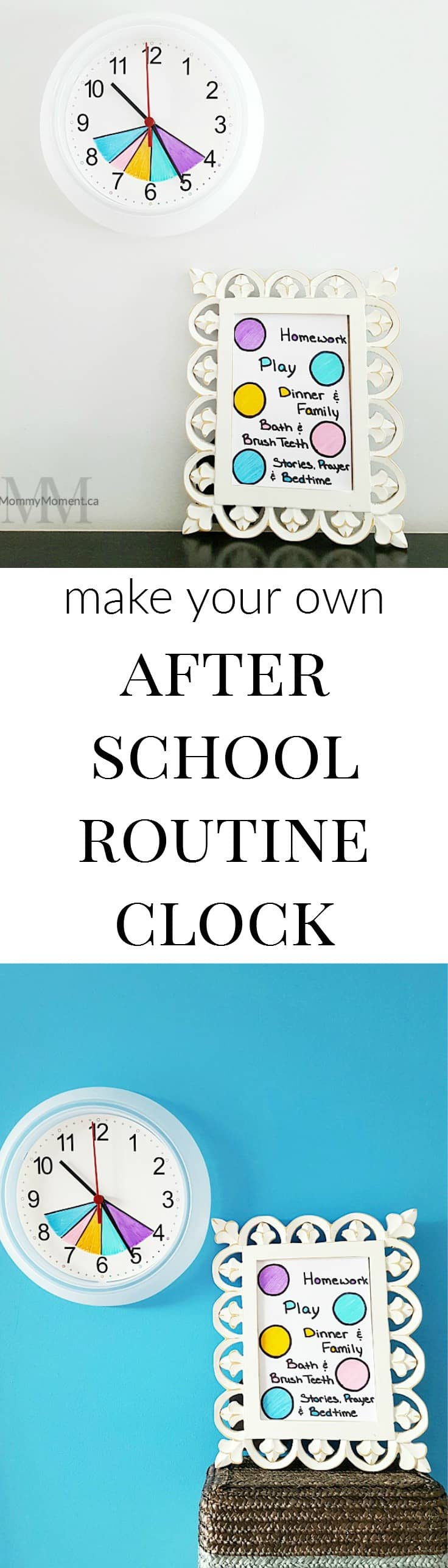 Worksheet Help Your Child Focus help your child focus with an after school routine clock mommy diy clock