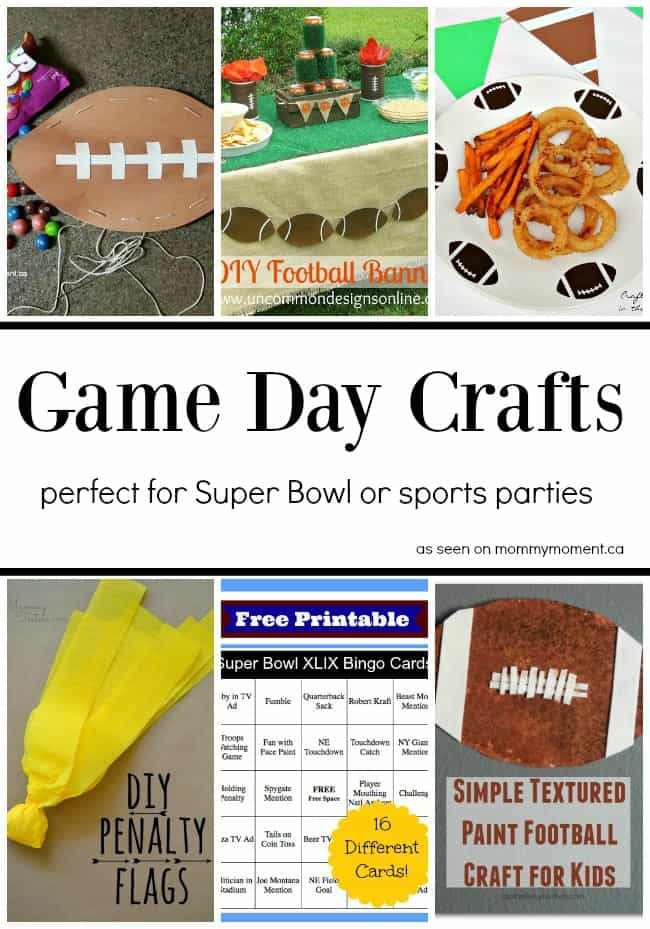 Game Day Crafts Collage