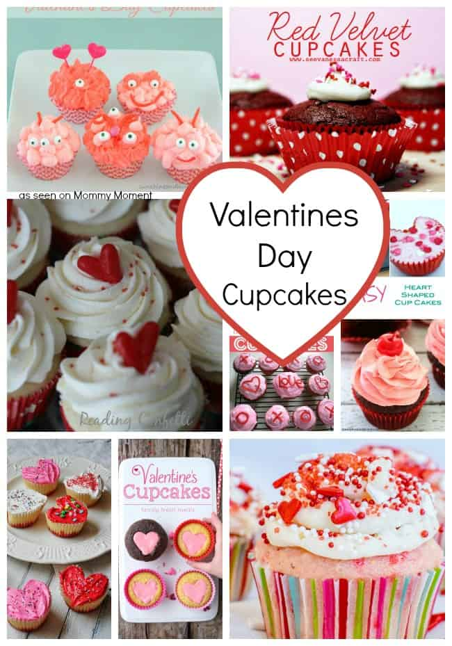Valentines Day Cupcake Collage